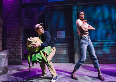 Jonathan Groff as Seymour and Joy Woods as Chiffon in Little Shop Of Horrors (c) Emilio Madrid-Kuser